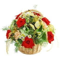 Natural Beauty Flower Basket