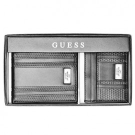 Guess Embossed Wallet And Card Case