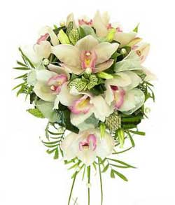 Bridal bouquet Orchids